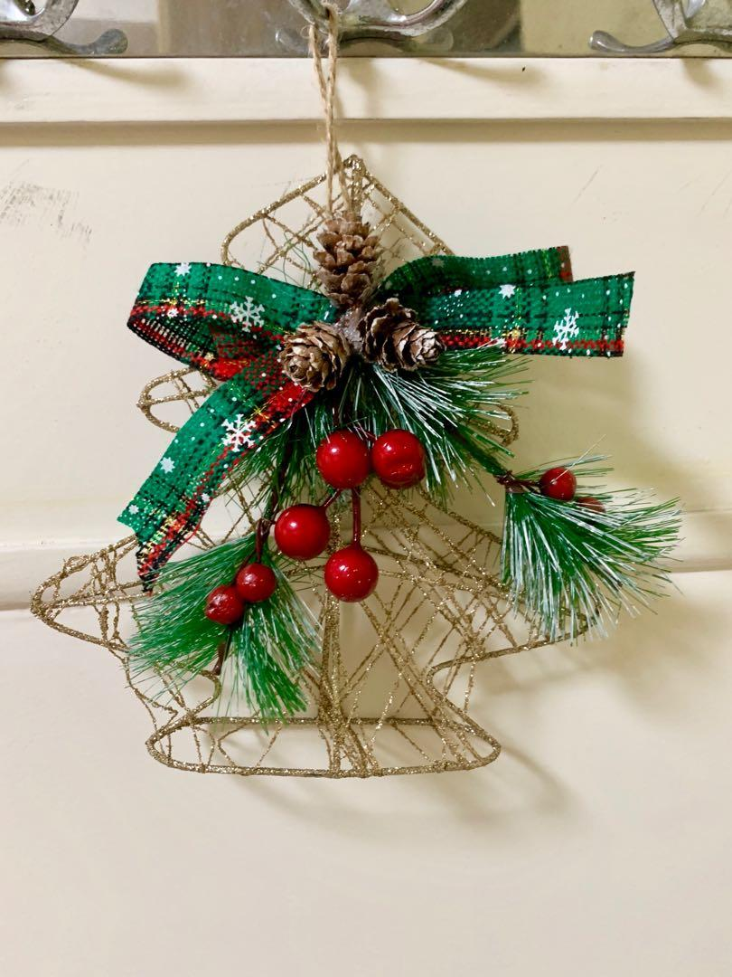 Hiasan pohon natal lonceng / gantungan pohon natal lonceng christmas