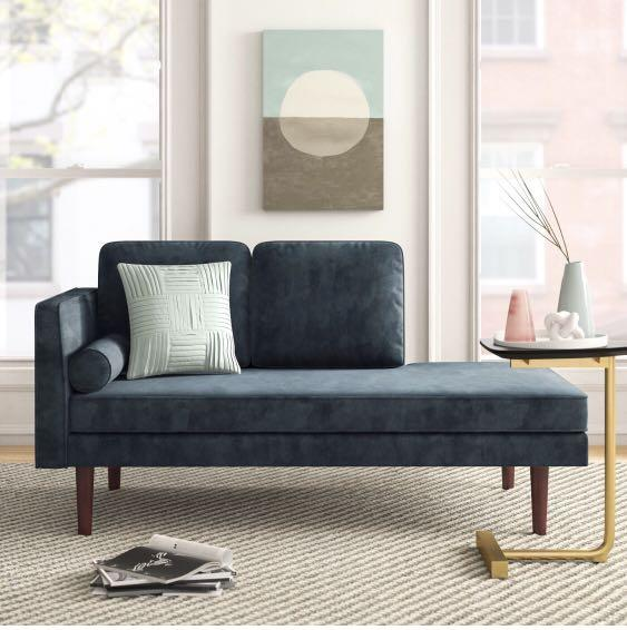 New In Box: Juliette Mid Century Chaise Lounge