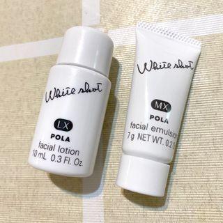 Pola white shot facial lotion 10ml facial emulsion 7g  皇牌產品 美白試用裝 取自專櫃