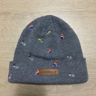 Akomplice毛帽 鸚鵡 鴿子 灰色 絕版商品