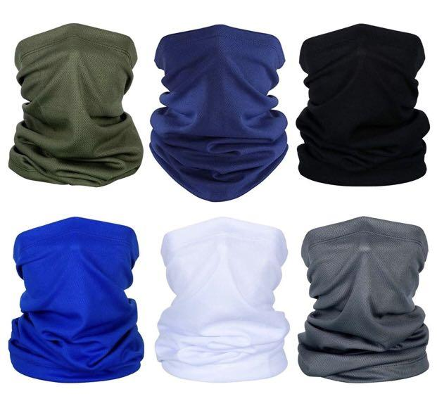 Brand new 6 Pieces Summer Face Cover UV Protection Neck Gaiter Scarf Sunscreen Breathable Bandana