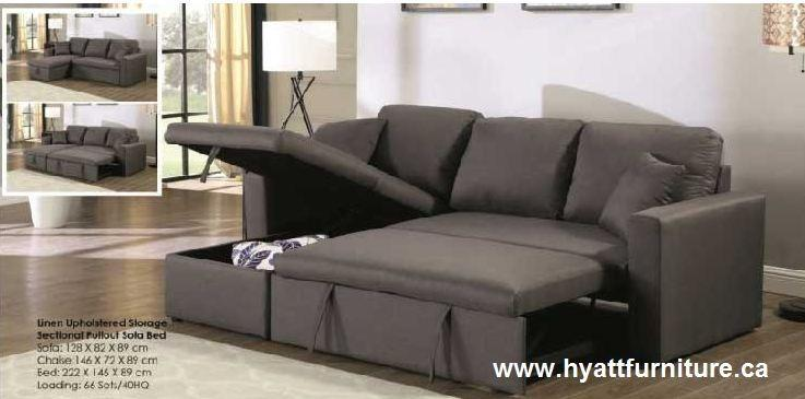 BRAND NEW FABRIC SECTIONAL SOFA BED