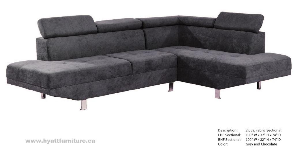 BRAND NEW MODERN FABRIC SECTIONAL