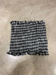 Checkered GINGHAM Tube Top