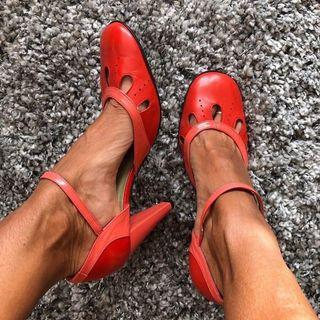 Coclico Red Mary Jane Heels
