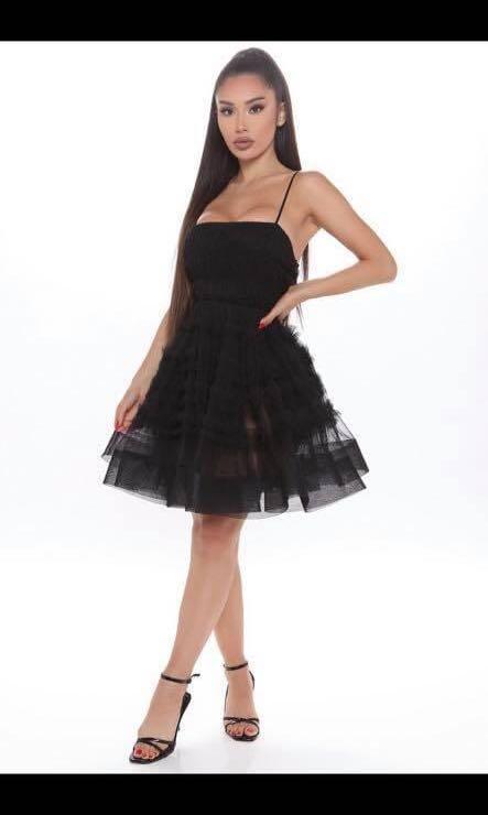 Fashion nova edgy tulle dress