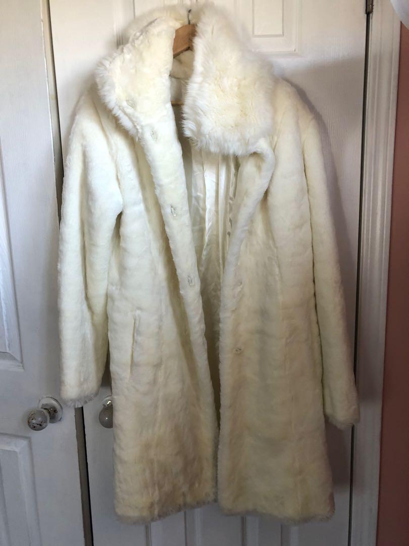Faux fur coat size XL