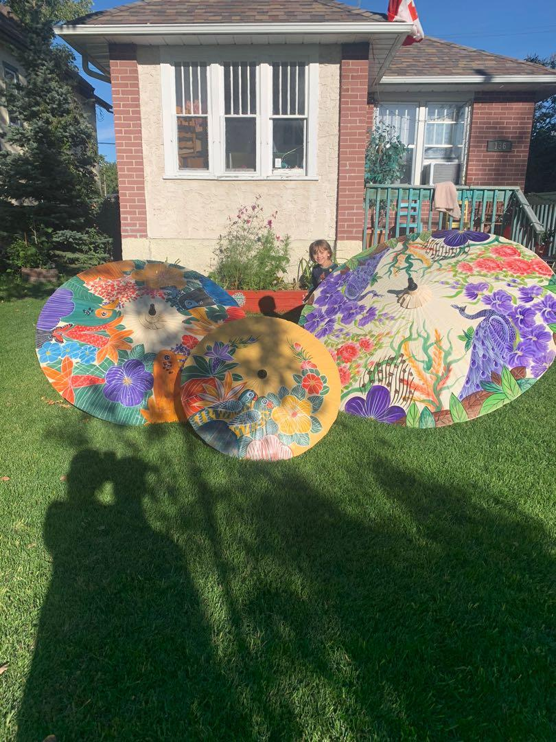 handpainted sun umbrellas fromThailand