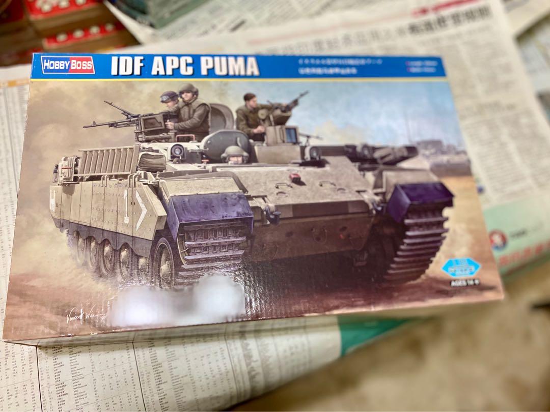 microscópico Kosciuszko gloria  HobbyBoss IDF APC Puma 1:35, Toys & Games, Bricks & Figurines on Carousell
