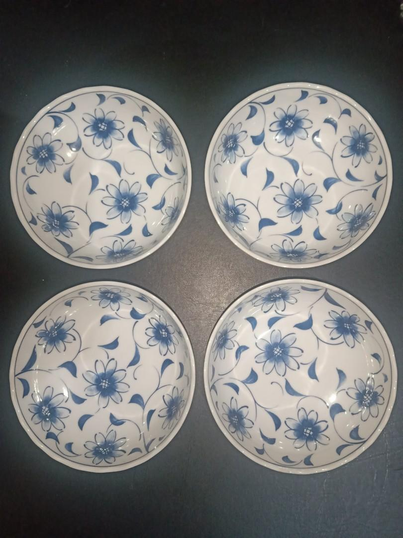 Mangkok Vintage Blue White