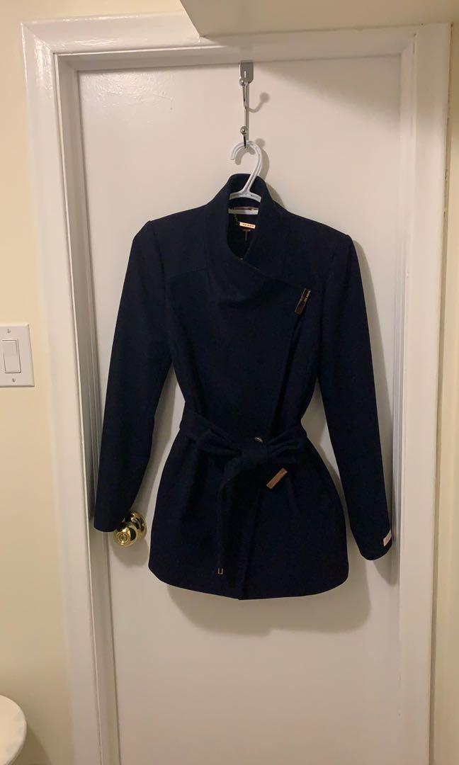 NEVER BEEN WORN TED BAKER WOOL WRAP COAT