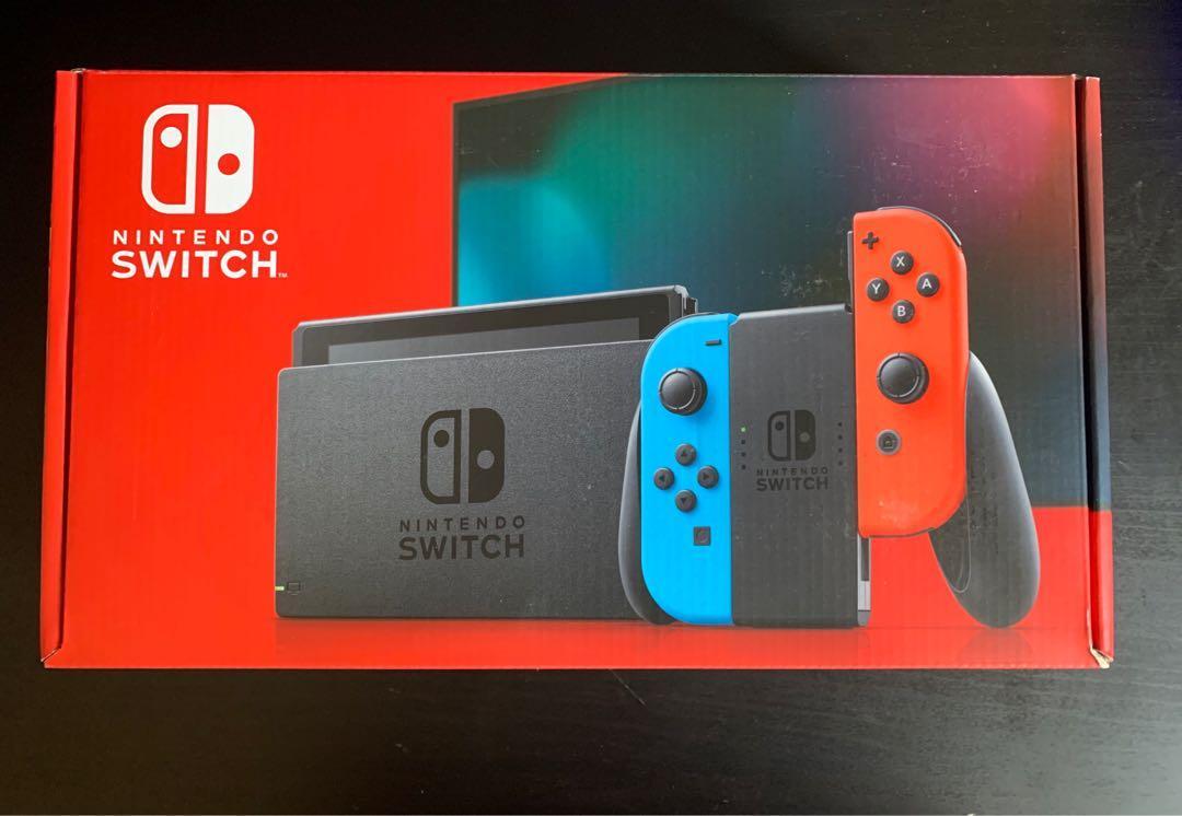 Nintendo Switch Blue/Red Joycon, Second Generation (Brand New)