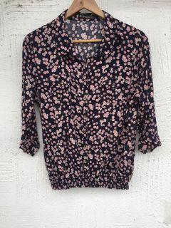 No apologies 3/4s floral blouse