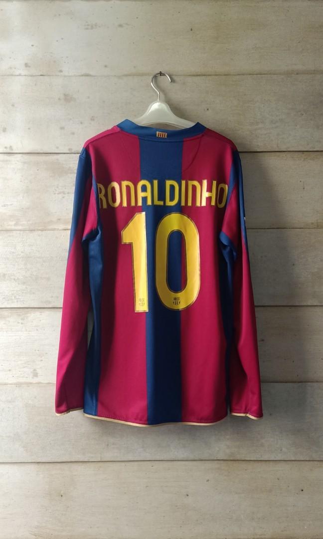 Original home jersey Barcelona 2007 Ronaldinho 10