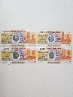 1990 Singapore 25th Anniversary polymer $50