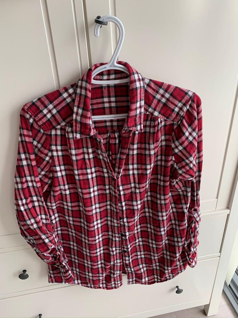 Red Flannel Top - Small