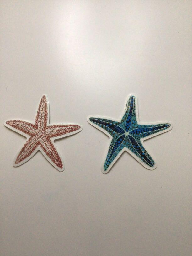 Starfish stickers
