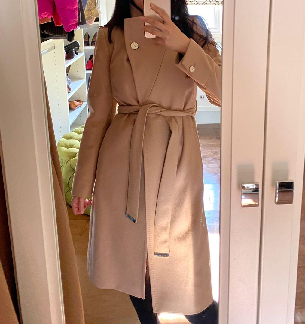 Ted Baker Wool Trench Coat NEW size 0 (small)