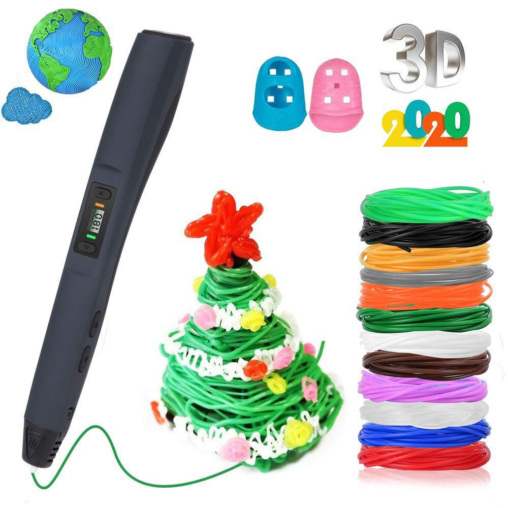 Arts Crafts Hobbies Drawing 3D Printing Pen for Children and Adults Intelligent 3D Pen,Perfect 3D Doodling 3D Printing Pen White