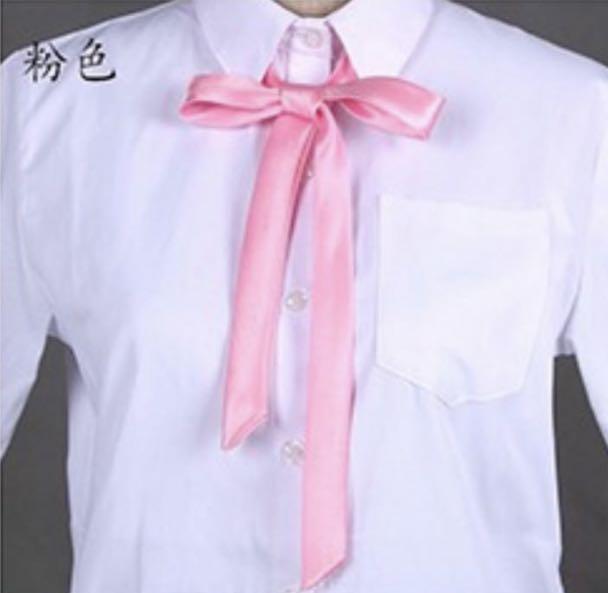 粉色絲綢制服絲帶🎀