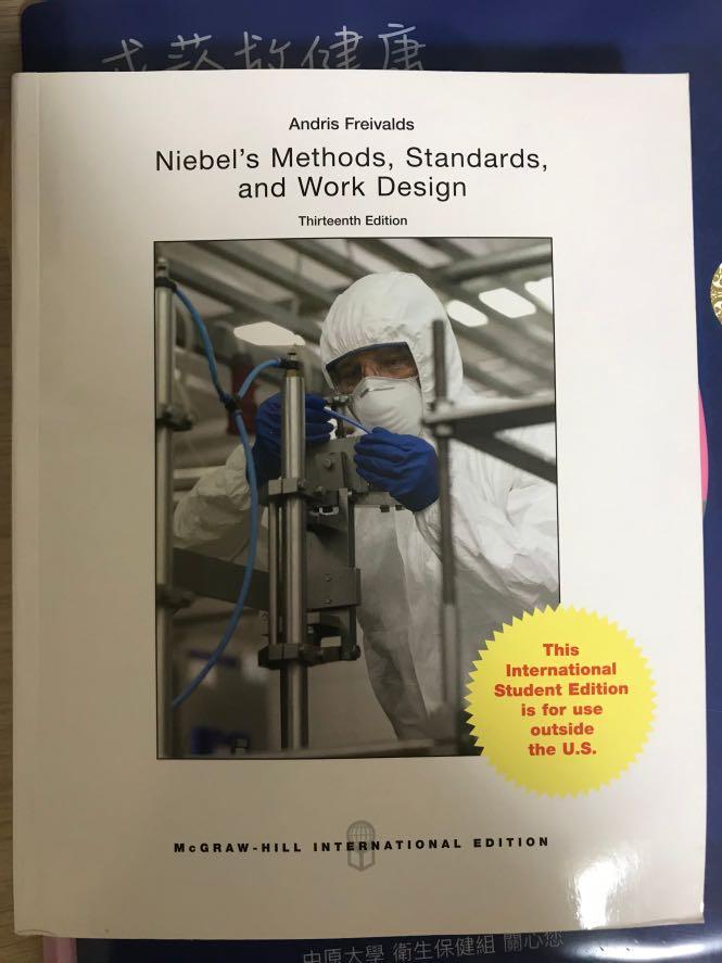 Niebel's Methods,Standards,and Work Design