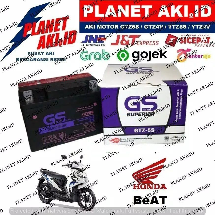 Aki Motor Honda Beat GTZ5 GTZ5S GTZ 5S GS Y Accu Kering MF