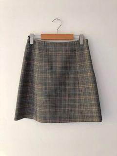 Babaton Modern Check mini skirt