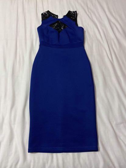 Blue Bodycon dress S