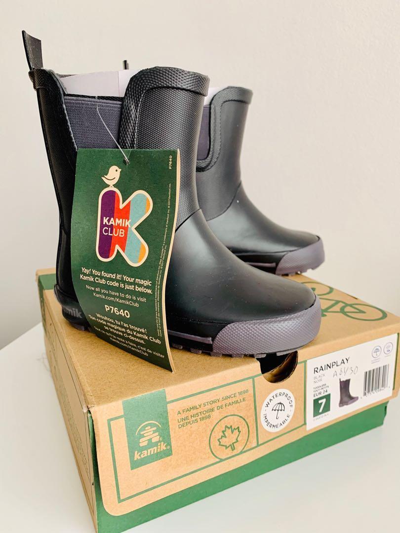 Brand new kamik waterproof rainplay toddler unisex boots