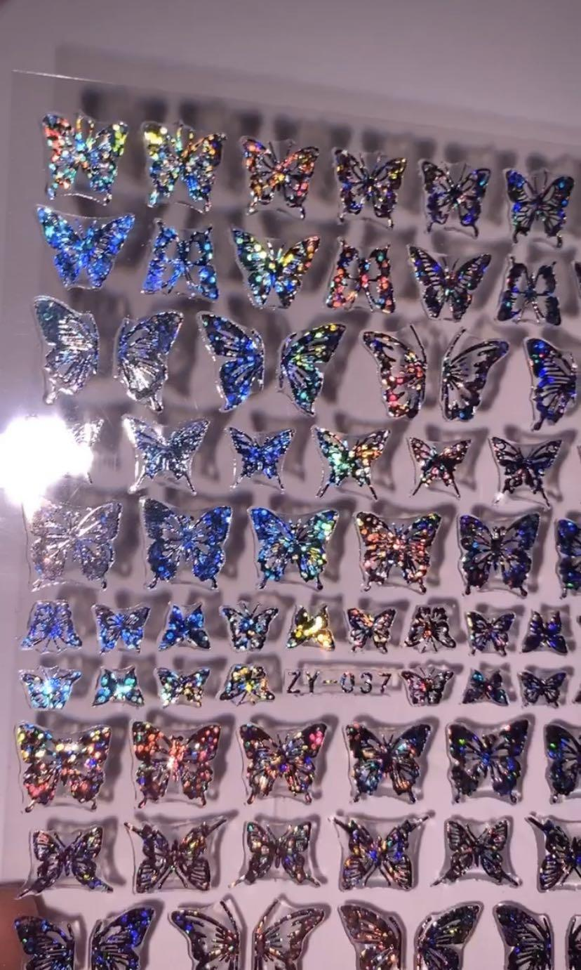 Holo Butterfly/fairy nail stickers