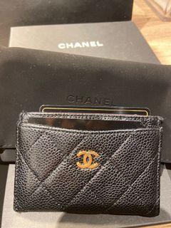 Chanel 魚子醬 名片夾 表參道店購入 附購證