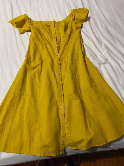 Forever 21 yellow dress M
