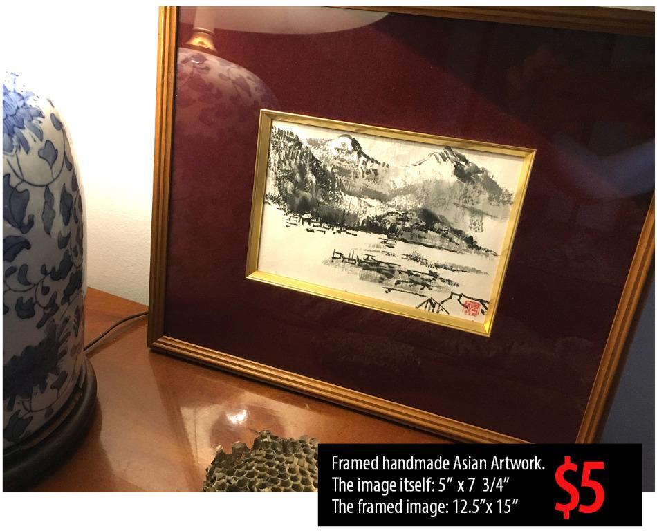 Framed handmade Asian Artwork