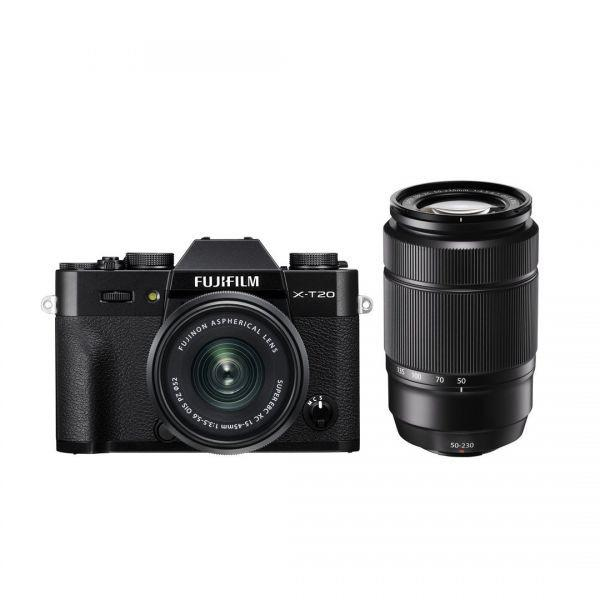 Fujifilm X-T20 with 15-45mm + 50-230mm
