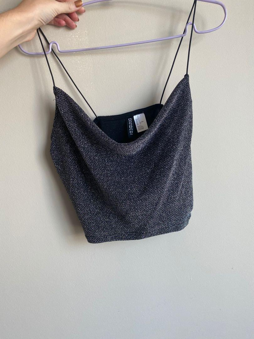 H&M Sparkle Crop Top, Size Small