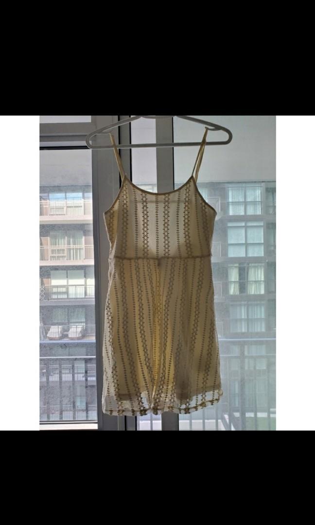 "Ivory ""crochet"" dress"