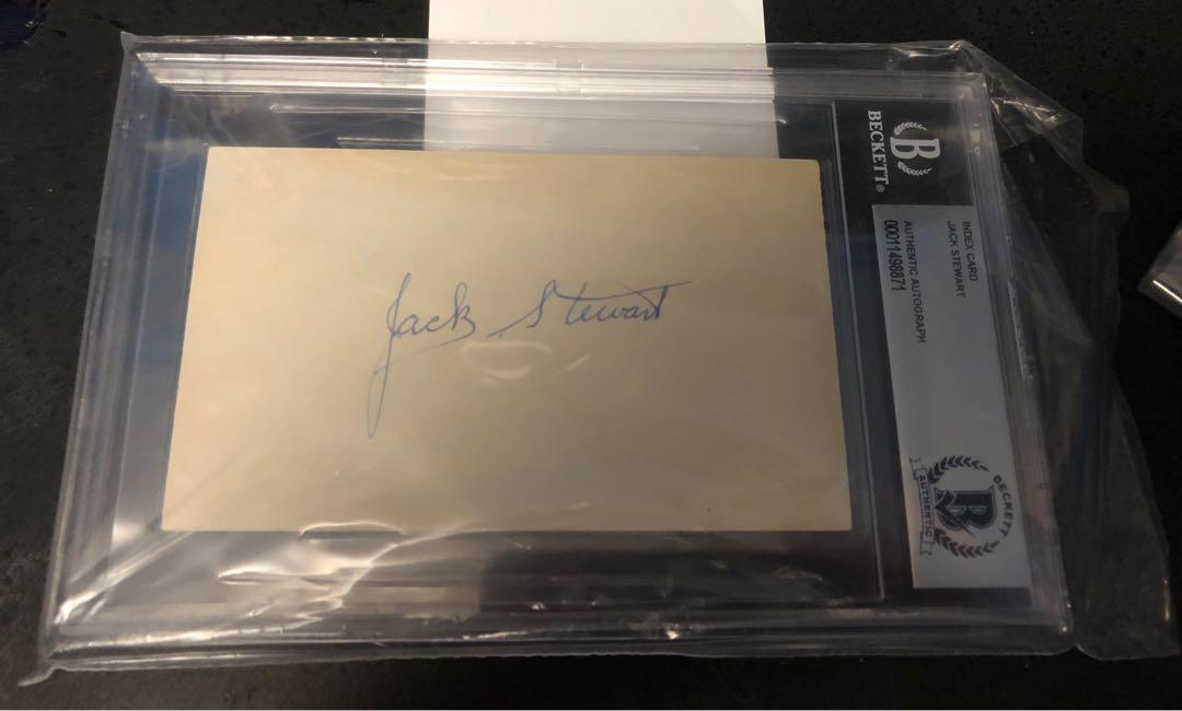 Jack Stewart Signed Autograph Index Card