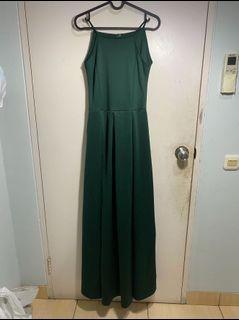 Long Dress Hijau Tua
