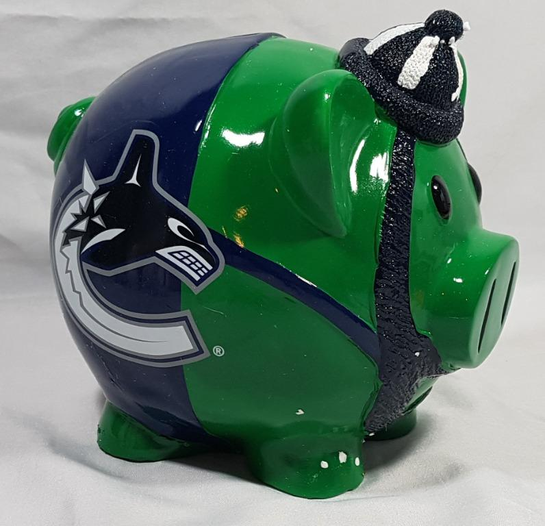 NHL Vancouver Canucks Piggy Bank NEW
