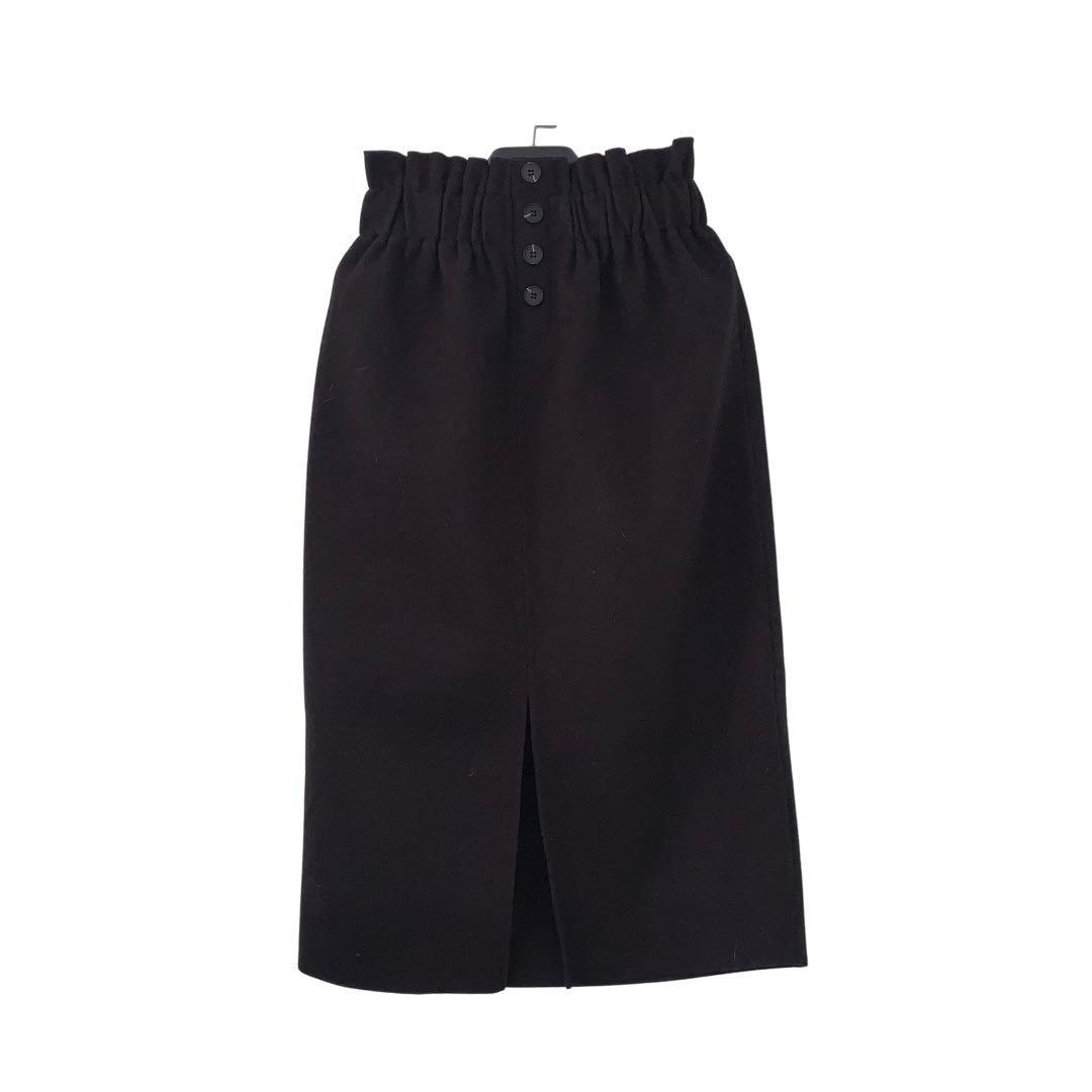 Oak + Fort Midi Skirt with Slit