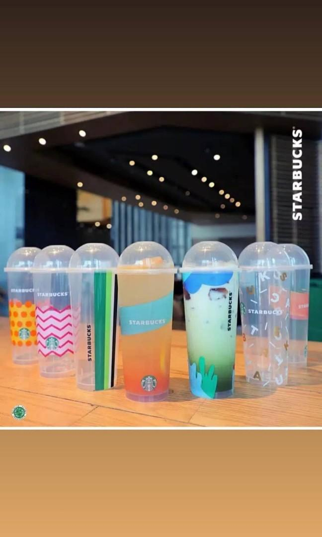 Free ongkir reusable starbucks cup tumblr