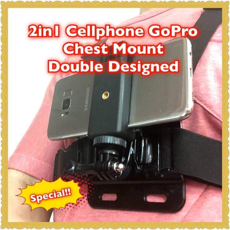 Special 2 in 1 Cell Phone GoPro Chest Mount Designed with Quick Release Function, On Sale now