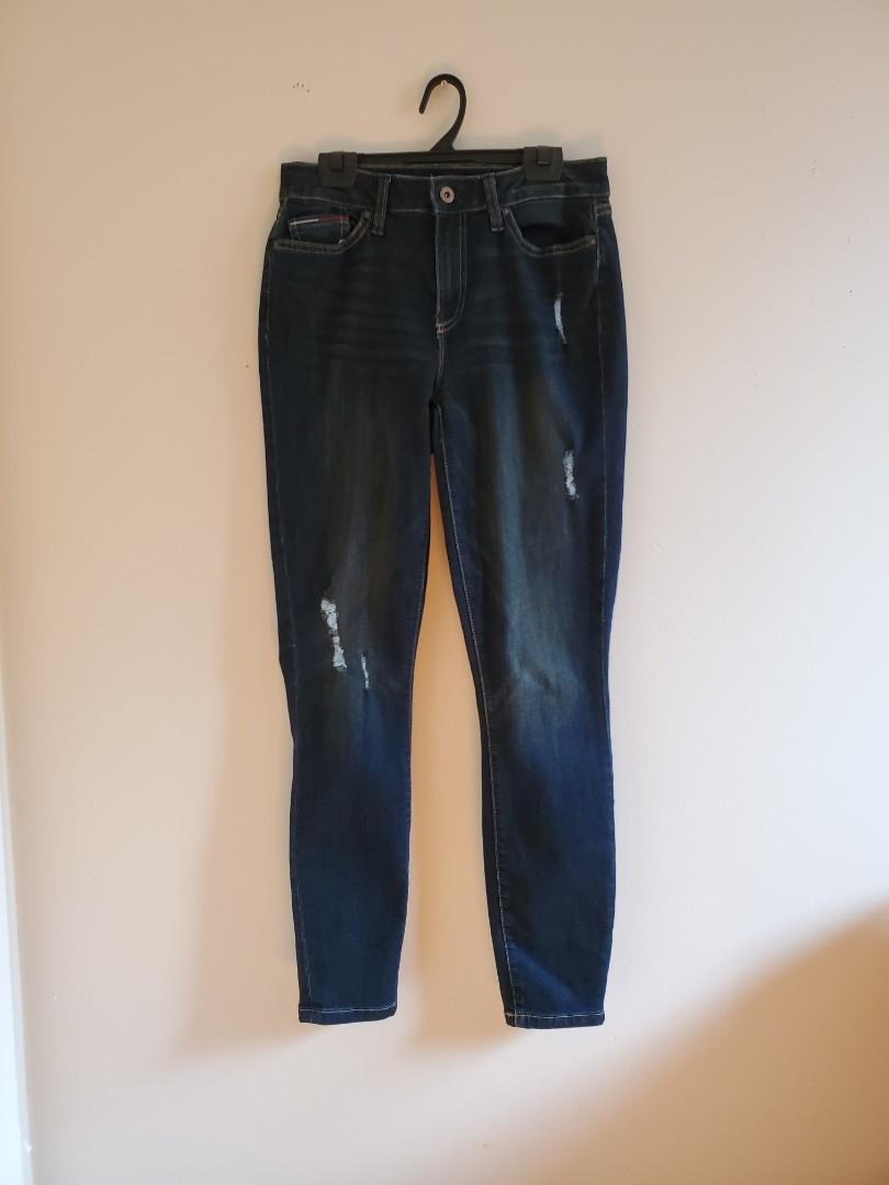 Tommy Hilfiger high rise skinny ankle jeans