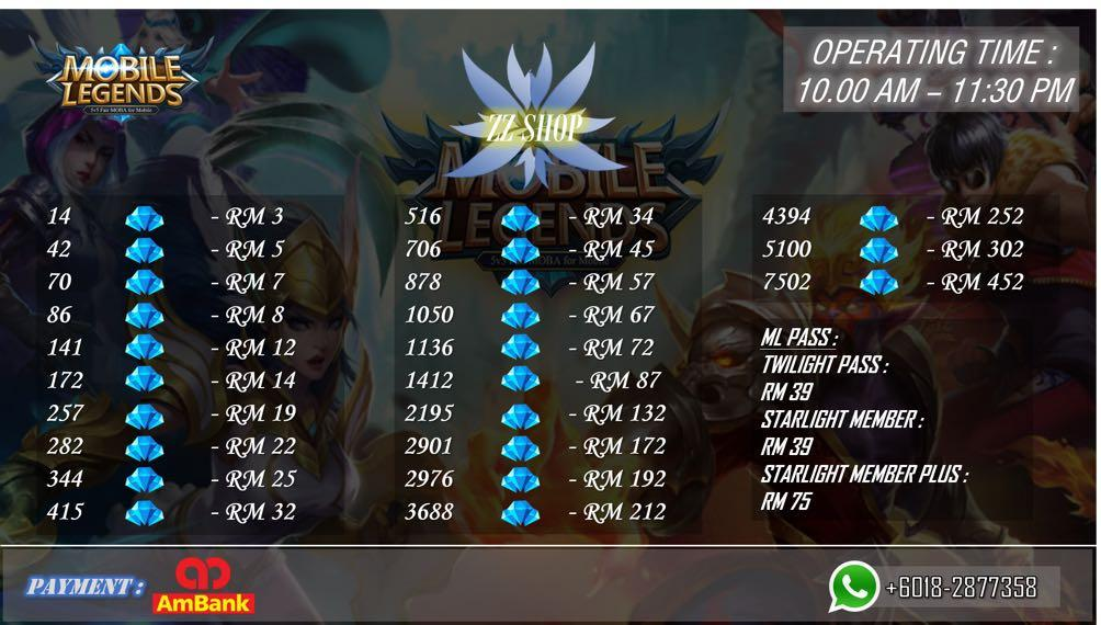 Topup Diamond Murah Mobile Legends Bang Bang Video Gaming Video Games On Carousell