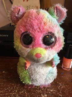 Ty beanie baby rainbow sparkly mouse plush toy animal