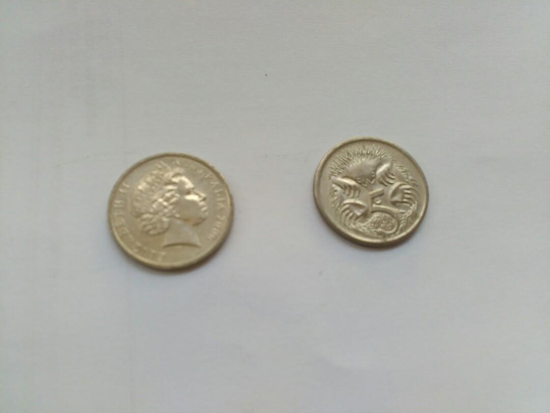 Uang koin 5 cent Australia