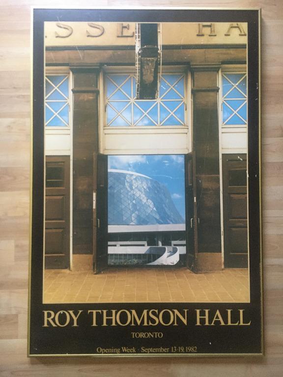 Vintage Framed Poster - Roy Thomson Hall Opening