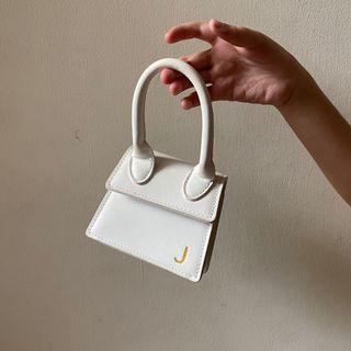 White Mini J Bag