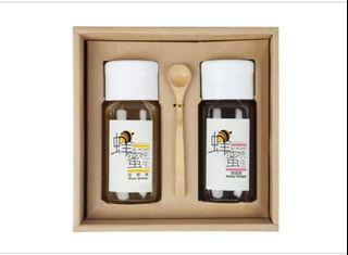 蜂蜜先生禮盒(蜂蜜醋X1、荔枝蜜X1)