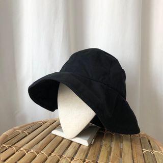 全新 韓國漁夫帽 漁夫帽 帽 黑色